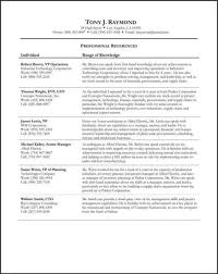 Examples Of Resume References by Sample Job Search References Sheet