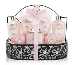 spa gift basket with heavenly cherry blossom fragrance gift set spa gift basket with heavenly cherry blossom fragrance gift set includes shower gel bubble