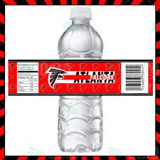 sports invites atlanta falcons bottle labels