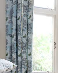 Floral Lined Curtains Aviana Butterfly Floral Lined Curtains J D Williams