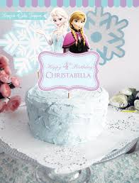 frozen cake topper frozen birthday party personalized