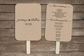 wedding program fan template rustic wedding program fan