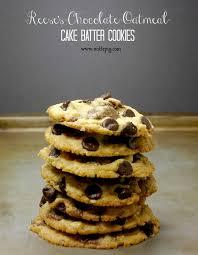 reese u0027s chocolate oatmeal cake batter cookies