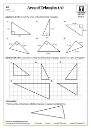 area worksheets teaching ideas