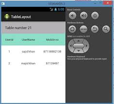 xamarin android table layout create a table layout in android