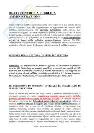 dispense diritto penale penale reati contro la pubblica amministrazione appunti