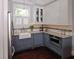 Painting Kitchen Cupboards Ideas Catchy Painting Kitchen Cabinets Two Different Colors Similiar