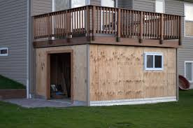 How To Build A Small Backyard Storage Shed by Panofish Building A Shed Under A Deck