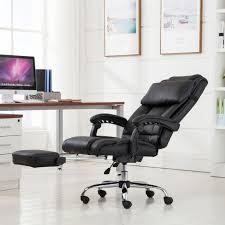Executive Computer Chair Design Ideas Belleze Executive Reclining High Back Pu Leather Footrest Armchair