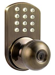 Keypad Interior Door Lock Milocks Tkk 02aq Digital Door Knob Lock With Electronic Keypad For