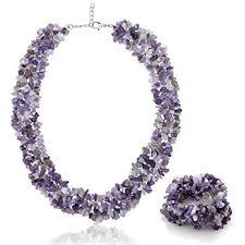 stone necklace sets images Gem stone king 18 quot multi strands purple amethyst chips jpg