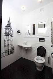 explore unique modern bathrooms in black and white
