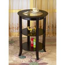 dolphin end table glass top bamboo dining tables and wood base