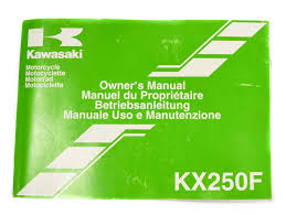 manuel utilisation kxf 250 2006 kawasaki