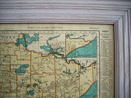 Mn Road Map Loving Vintage Map Art The Domestic Domicile