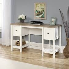 Computer Desk In White by Sauder Harbor View Computer Desk Antiqued White Hayneedle