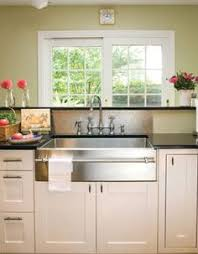 cing kitchen with sink kohler vault farmhouse apron front stainless steel 36 in 4 hole