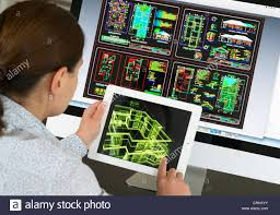 architect using ipad cad computer aided design application