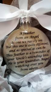 uncle memorial christmas ornament w wing charm a feather