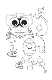 cute owl coloring page free printable owl coloring pages for kids