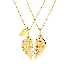gold friend necklace images Best friend necklaces 24k gold fashion jewelry two half heart jpg
