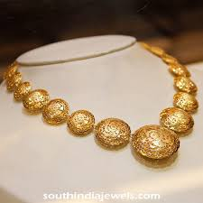 fashion necklace gold images Gold italian style necklace from manubhai jewellers south india jpg