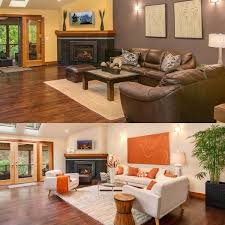 before and after staging photos by seattle staged to sell