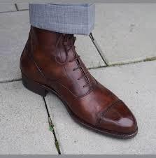handmade men cape tone lace up dress boots men brown color