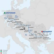 Physical Map Of Europe Rivers by Amsterdam To Transylvania River Cruise Avalon Europe
