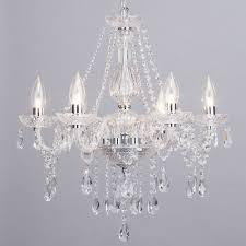 laine 6 light bathroom chandelier chrome from litecraft