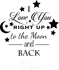 you to the moon and back wall decal