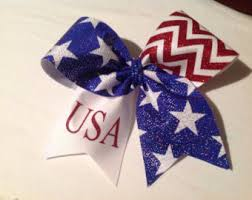 white and blue bows wars blue cheer bow