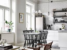 The Kitchen Open Table by Classic Swedish Style Apartment In Neutral Shades Digsdigs