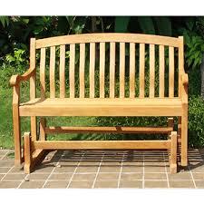 crestwood garden collection 4 u0027 teak glider bench bj u0027s wholesale club