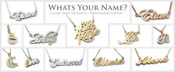 Gold Personalized Name Necklace Personalised Silver Name Necklaces Personalised Gold Silver