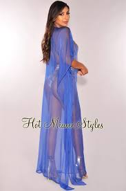 royal blue dress royal blue sheer gold sequins cover up maxi dress