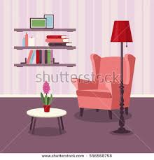 vector image illustration room living room stock vector 577587484