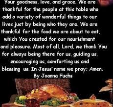 thanksgiving prayer at dinner table brokeasshome