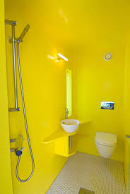captivating contemporary bathroom applying yellow bathroom decor