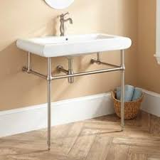 kingston brass console sink kingston brass console table combo in white with metal legs in oil