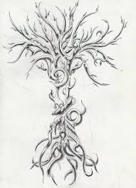 tribal tree designs style black tree design