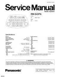 honda goldwing gl1800 panasonic rm g45pa radio service manual 83e8b