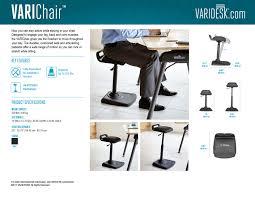 standing desk office chair varichair varidesk