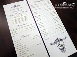 ceremony programs ceremony programs a vibrant wedding