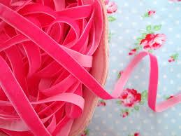 pink velvet ribbon ribbons