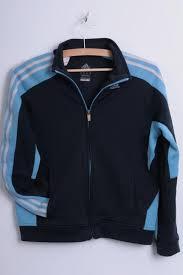 adidas womens m sport sweatshirt navy jacket clima warm tracksuit