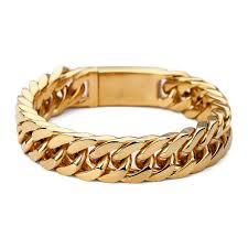 bracelet gold man stainless steel images 2018 men bracelets gold color 15mm width stainless steel bracelet jpg