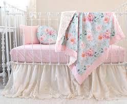 Pink Floral Crib Bedding Blooms Floral Nursery Set Blush Pink Floral