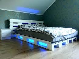 Headboard With Lights Headboard With Lights And Storage Floating Wood Platform Bed Frame