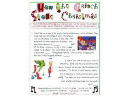 how the grinch stole christmas math middle activity